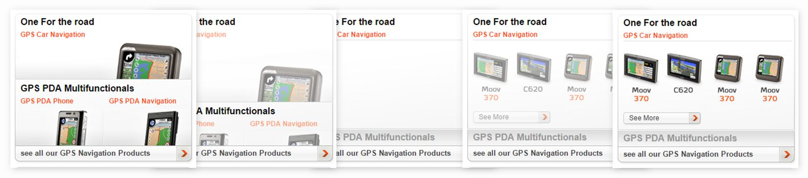 Mio Technology - homepage GPS selection hover