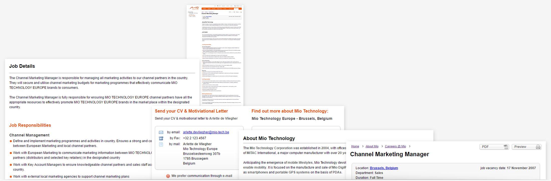 Mio Technology - Job opening