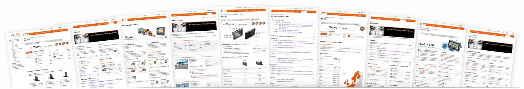 Mio Technology Website overview