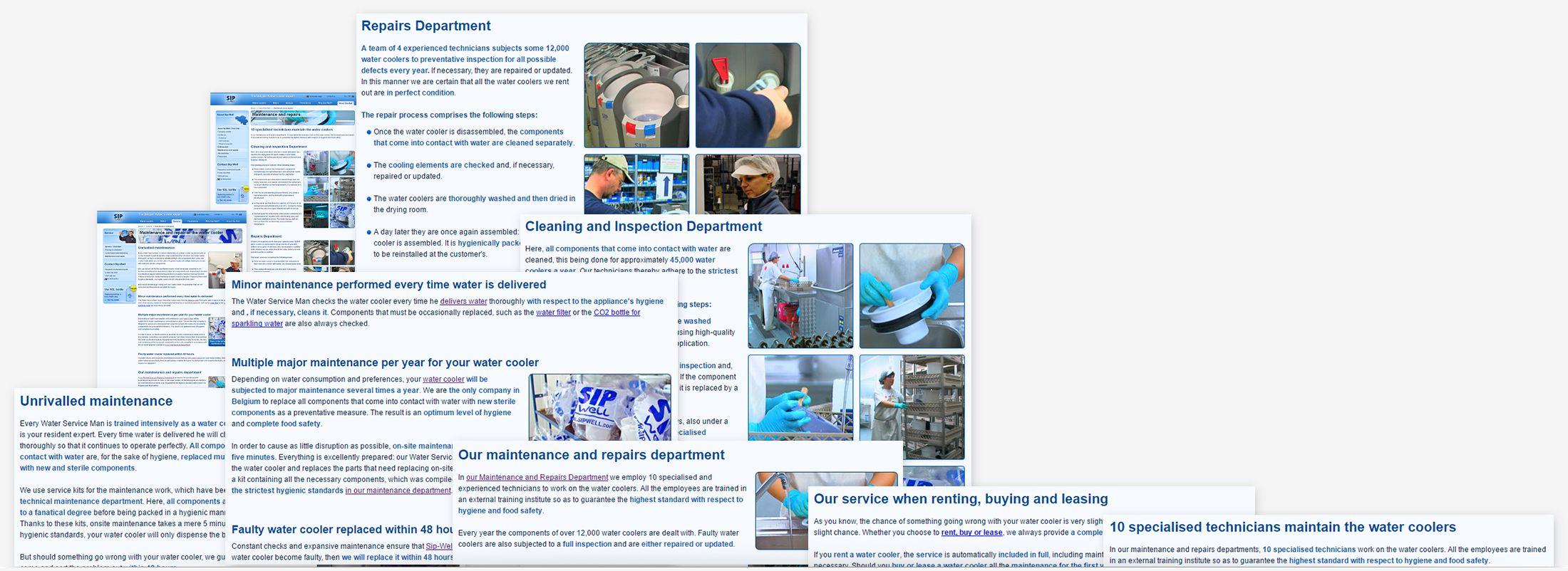 Sip-Well - maintenance & repairs